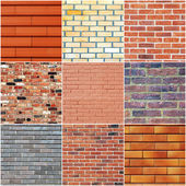 Brick wall textures — Stockfoto