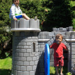 Two boys in castle — Stock Photo