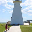 Little girl and lighthouse — Stock Photo #11645702