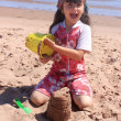 Little girl at the beach in P.E.I — Stock Photo #11658715