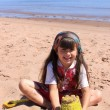 Little girl at the beach in P.E.I — Stock Photo