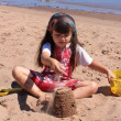 Little girl at the beach in P.E.I — Stock Photo #11707225