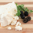 Stock Photo: Fetcheese and olives