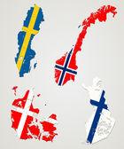 Países nórdicos — Vector de stock