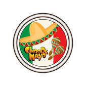 Cinco de Mayo stamp — Stock Vector