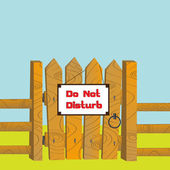 Do no disturb — Stock Vector