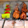 Stock Photo: Appetizing, background, barbecue, bbq, blaze, broil,