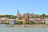 Budapest. Danube River embankment — Stock Photo