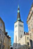 Tallinn, Estonia. St. Olaf church — Stock Photo