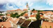 The roofs of Cesky Krumlov, Czech republic — Foto de Stock