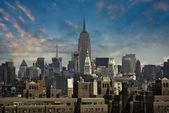 Manhattan skyline da ponte de brooklyn — Foto Stock