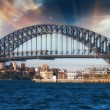 Dramatic Sky above Sydney Harbour Bridge — Stock Photo
