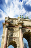 Arc de Triomphe du Carrousel in Paris, Detail view — Stock Photo