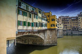 Side view of Old Bridge - Ponte Vecchio in Florence — Stock Photo