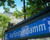 Señal de metro u-bahn de berlín — Foto de Stock