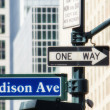 New York City Street Signs — Stock Photo