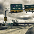 Road Signs on Interstate — Stock Photo