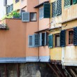 Windows of Ponte Vecchio, Old Bridge in Florence - ストック写真