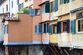 Windows of Ponte Vecchio, Old Bridge in Florence — Stock Photo