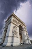 View of Arc de Triomphe - Triumph Arc in Paris — Stock Photo