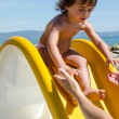 Baby relaxing at the Beach — Stock Photo #11547293
