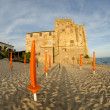 Torre Mozza, ancient Tower on a Tuscan Beach — Stock Photo