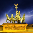 Sky above Quadriga Monument, Brandenburg Gate in Berlin — Stock Photo #11611049