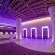 Stock Photo: NEW YORK CITY - MARCH 8: Purple lights illuminates the interior