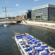 Berlin Spree River and Landmarks — Stock Photo