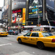 Stock Photo: Yellow cabs on March 8, 2011 in New York