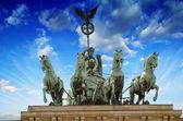 Storm approaching Berlin and Brandenburg Gate — Stock Photo