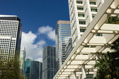 Business buildings in Miami Florida reaching for the sky — Stock Photo