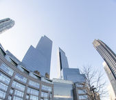 Giant Skyscrapers at Columbus Circle - Manhattan - New York - U. — Stock Photo