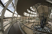 The Cupola on top of the Reichstag building in Berlin, Interior — Foto de Stock