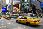 Taxis amarillos en 08 de marzo de 2011 en Nueva york — Foto de Stock