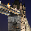 Tower Bridge at Night - London — Stock Photo