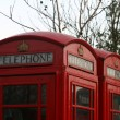 Two classic red London Telephone boxes, in City of London, E — Zdjęcie stockowe #11802192