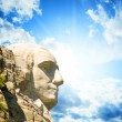 Stock Photo: Mount Rushmore National Memorial with dramatic sky - USA
