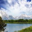 Stock Photo: Landscape of Grand Teton National Park - USA