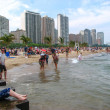 Stock Photo: CHICAGO - JULY 3: relax on the beach of Lake Michigan on