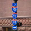 Chicago Street Signs, Illinois - Stock Photo