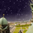Fisheye panoramic view from Berliner Dom — Stock Photo
