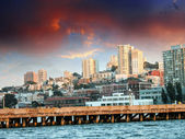 Skyline of San Francisco with Dramatic Sky — Stock Photo
