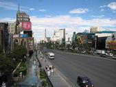 LAS VEGAS, NEVADA - OCT 13: World famous Vegas Strip in Las Vega — Stock Photo
