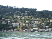 Huizen en skyline van san francisco - californië — Stockfoto