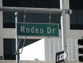 Rodeo Drive street sign in Beverly Hills - Los Angeles — Stock Photo