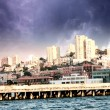 Skyline of San Francisco with Dramatic Sky — ストック写真