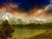 Landscape of Grand Teton National Park - USA — Stock Photo