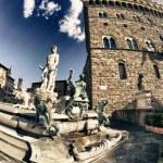 náměstí Piazza della signoria ve Florencii, Itálie — Stock fotografie