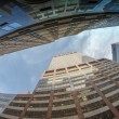 Upward view of New York City Skyscrapers -  